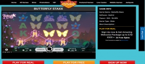 Amazing Welcome Package up to £/$/€600 + 25 Free Spins At Butterfly-Staxx Game.