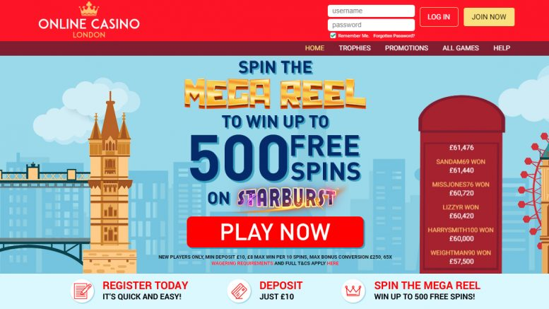 online casino london